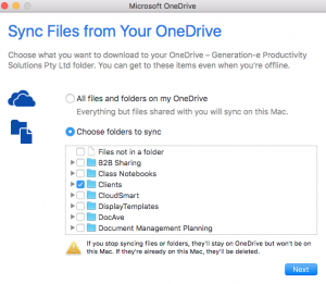 How to install and configure the NextGen OneDrive for