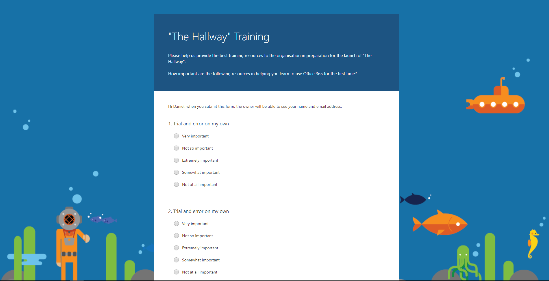 TrainingForm Office Forms Examples on microsoft word, team's logo, mobile apps,